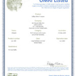 OMRI Certification 2020
