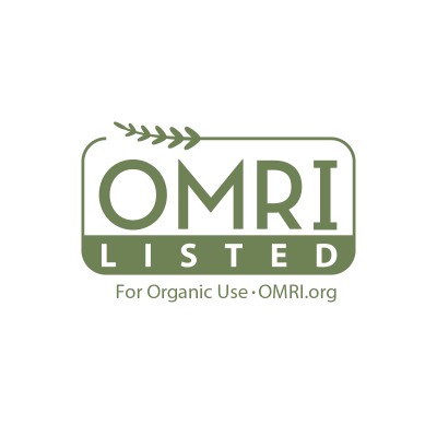 OMRI-listed green logo
