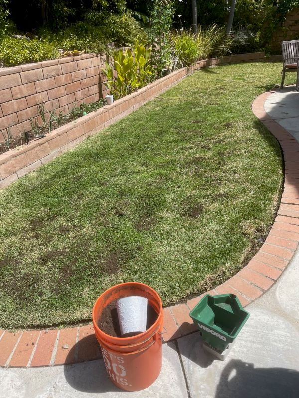 Dr Kilb's lawn with SPVS Valley's Best Compost® applied.